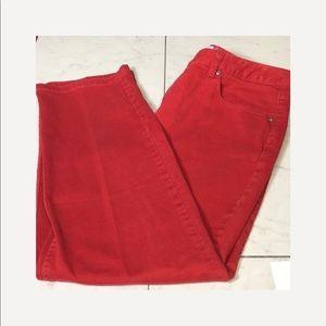 Liz Claiborne flirty sexy ruby red high waisted